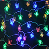 10M 38 LEDs Butterfly Led String Lights AC110V 220V Outdoor Indoor Christmas Lights Holiday Wedding Party
