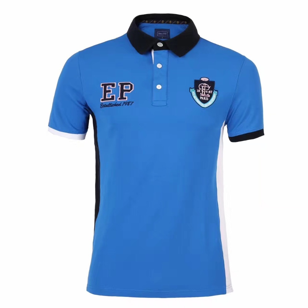 High Quality Luxury Brand EDEN PARK New mens Summer Short Sleeve Patchwork Mens   Polo   Shirt Superior Cotton MateriaL Anti-pilling