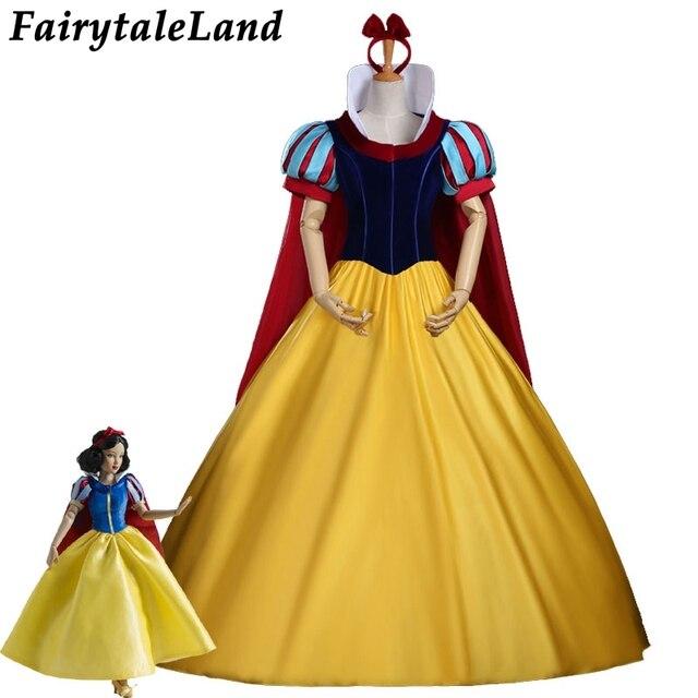 38ce86edcca Костюм Белоснежки на заказ для взрослых костюмы на Хэллоуин Принцесса  Белоснежка Косплей Костюм повязка на голову