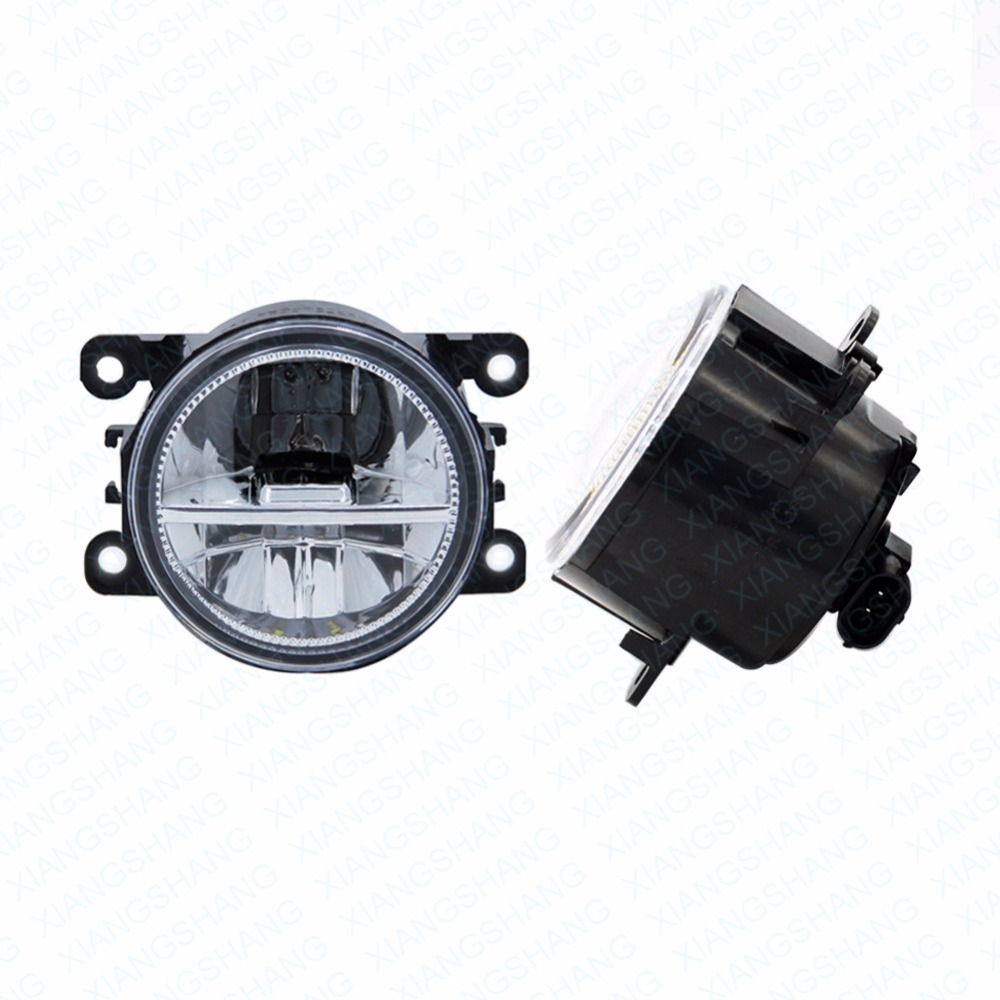 ФОТО 2pcs Car Styling Round Front Bumper LED Fog Lights DRL Daytime Running Driving fog lamps  For VAUXHALL MOVANO Mk I (A) Combi
