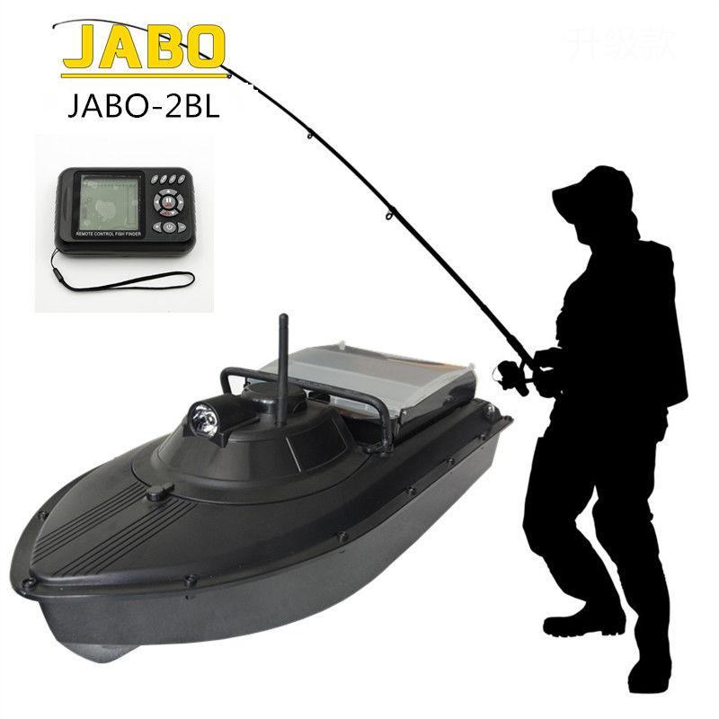 Updated JABO 2BL Boat Fish Finder 300M font b Remote b font Control Bait Boat Water