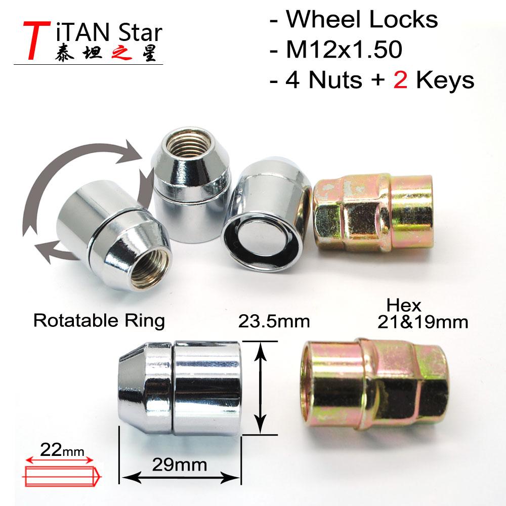 M12x1.5 Blue Metal Hex Locking Lug Nuts 16 Pcs for Wheel