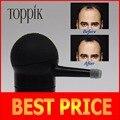 Toppik hair spray aplicador pumps12g fibras del edificio del pelo, 25g, 27.5g, 30g de color negro, con caja de la marca/paquete en la bolsa de relleno