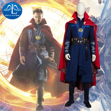 2016 New Men's Doctor Strange Cosplay Costume Deluxe Outfit Halloween Cosplay Costume for Adult doctor strange cloak cosplay costume dr strange steve red cloaks magic robe halloween party long cape
