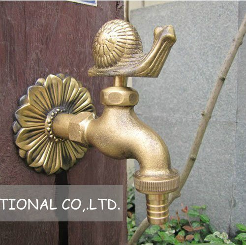 Free shipping  brass  TOP quality snail formation  tap /antique finish kitchen faucet /mop water  faucet/washing machine tap