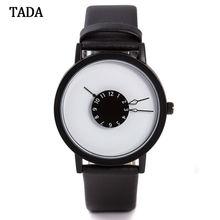 3ATM Waterproof tada brand special turntable dial hour clock women wristwatch genuine leather strap fashion quartz