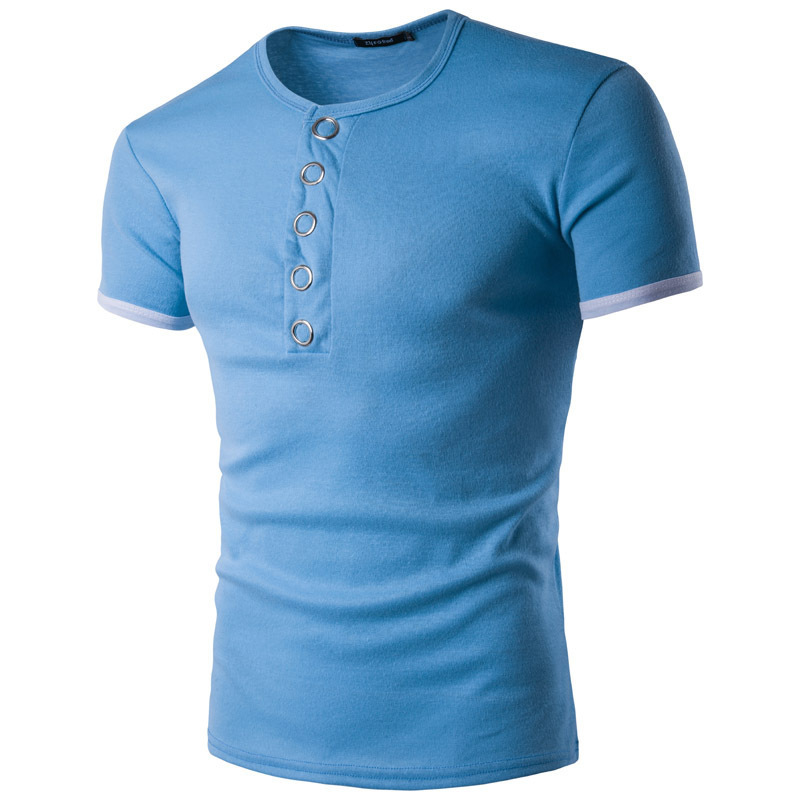 Men's Fashion T-shirt Summer New Personality Popular Men's Short Sleeve mens clothing t shirts 5colour