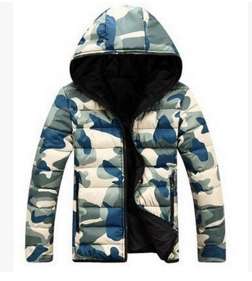 2017 new male models camouflage cotton winter men's cotton padded version of the hooded jacket Men Brand Clothing Jacket Coat