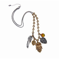 2017 Free Shipping Fashion New Ladies Jewelry Exaggerated Long Sweater Chain Vintage Wild Animal Owl Necklace