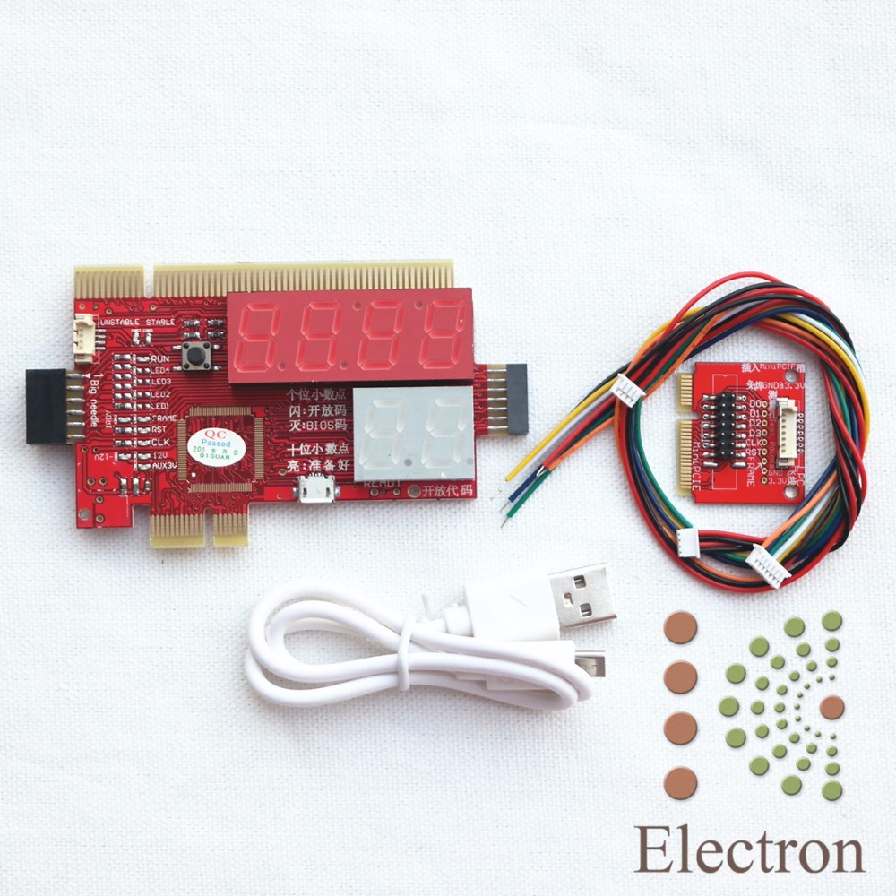 General computer desktop notebook LPC six diagnostic card PCI - E motherboard test card ...