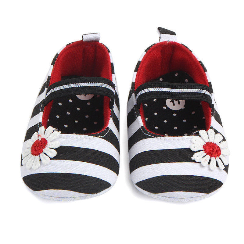 Toddler Girl Crib Shoes Newborn Baby Soft Sole Prewalker Anti-slip Pram Sneakers
