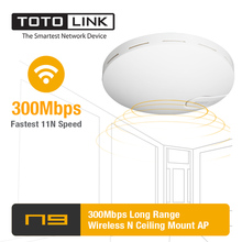 TOTOLINK N9 300 Мбит/с Беспроводной N высокого Мощность Long Range потолочное крепление AP/Wi-Fi ретранслятор Поддержка PoE и 30 конечных пользователей