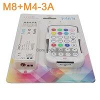 LTECH M4-3A DC12V/24 V 12A 3Ax4CH RGBW LED Mini Controlador de Recepção + M8 Sem Fio RF Toque Remoto para RGBW LED Strip luz