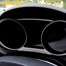 For Mitsubishi ASX 2018 2011 2012 2013 2014 2015 Car Accessories Stainless steel Car dashboard Stickers