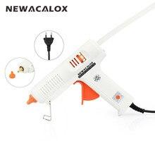 NEWACALOX 150 Вт ЕС DIY термоклеевой пистолет 11 мм клей палка стержень промышленный Электрический силиконовый пистолет термо Gluegun ремонт тепла инструмент