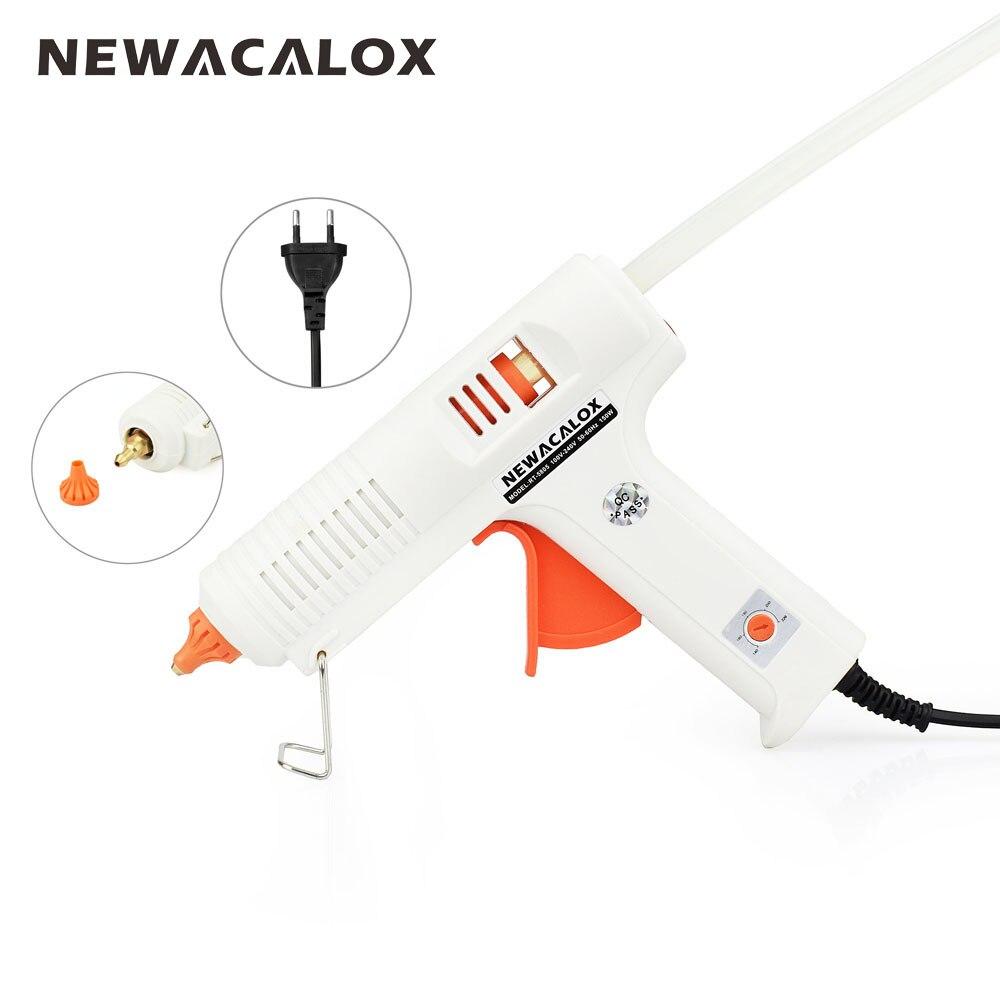 NEWACALOX 150W EU DIY Hot Melt Glue Gun 11mm Adhesive Stick Rod Industrial Electric Silicone Gun Thermo Gluegun Repair Heat Tool