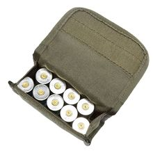 12 gauge / 20G magasinpåse Ammo Round Cartridge Holder Tactical 10 Round Shotshell Reload Holder Molle Pouch