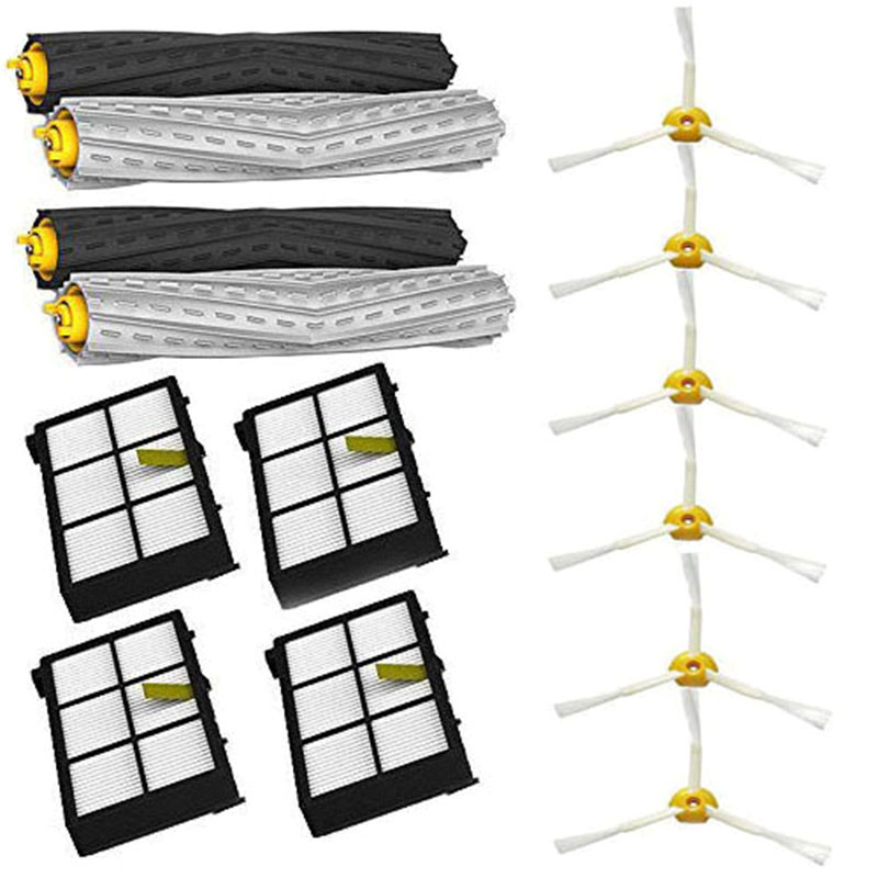 Tangle-Free Debris Extractor & Hepa Filter & Side Brush For Irobot Roomba 800 900 Series 870 880 980Tangle-Free Debris Extractor & Hepa Filter & Side Brush For Irobot Roomba 800 900 Series 870 880 980