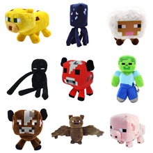 9 Pcs/Set Children Minecraft Plush Toys Bat Zombie Cow Squid Ocelot Mooshroom Pig Enderman Sheep Dolls Baby Movie My World Toys