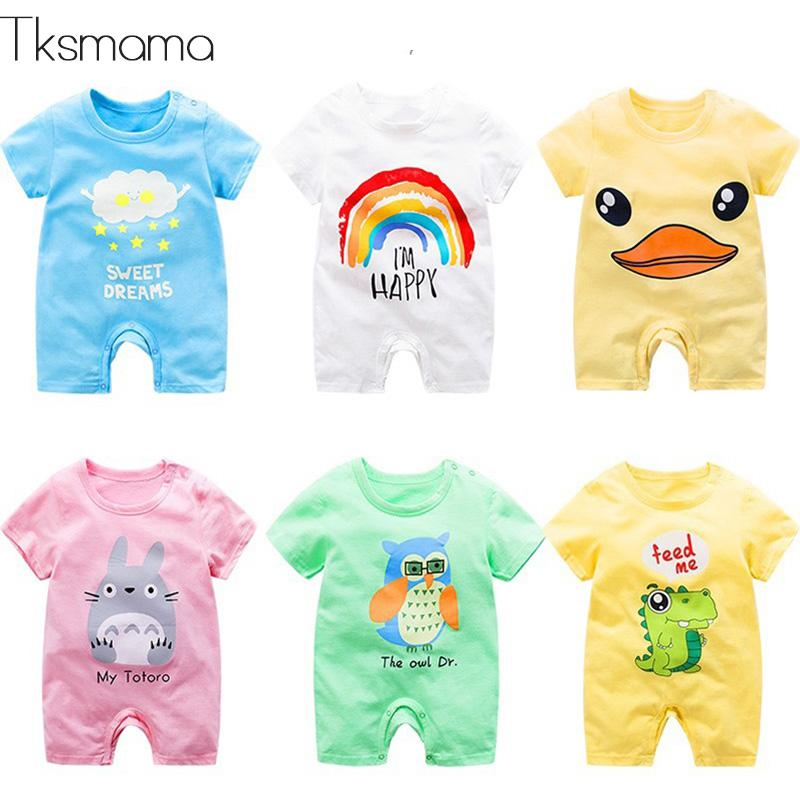 Summer Baby Short Sleeve Clothes Pure Cotton Newborns Clothing Infant   Rompers   For Boy Girll Costume