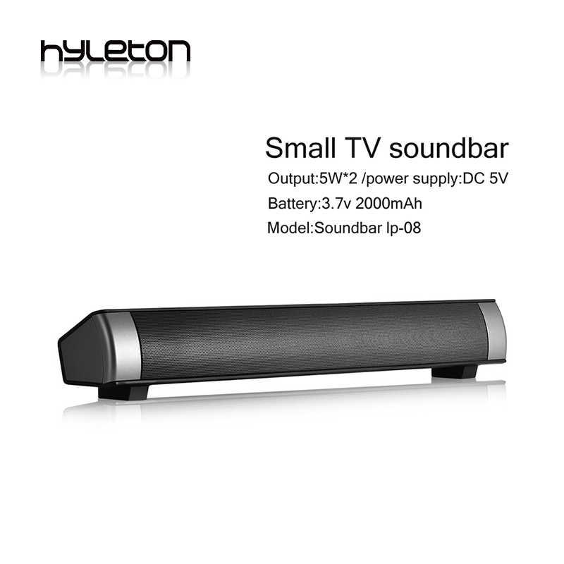ff834e38e11 Hyleton Bluetooth Speaker Soundbar LP-08 wireless speaker Sound slim  Subwoofer HIFI Speakers Computer laptop