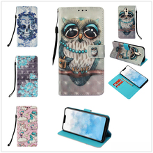 Luxury PU Wallet For Huawei P20 Lite Leather Flip Phone Fundas Painted Mascot Shell P20pro Lucky Whit Card Case