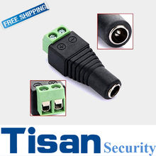 50PCS Female DC Power Jack & Plug Screw-on Wire Connector for cctv camera