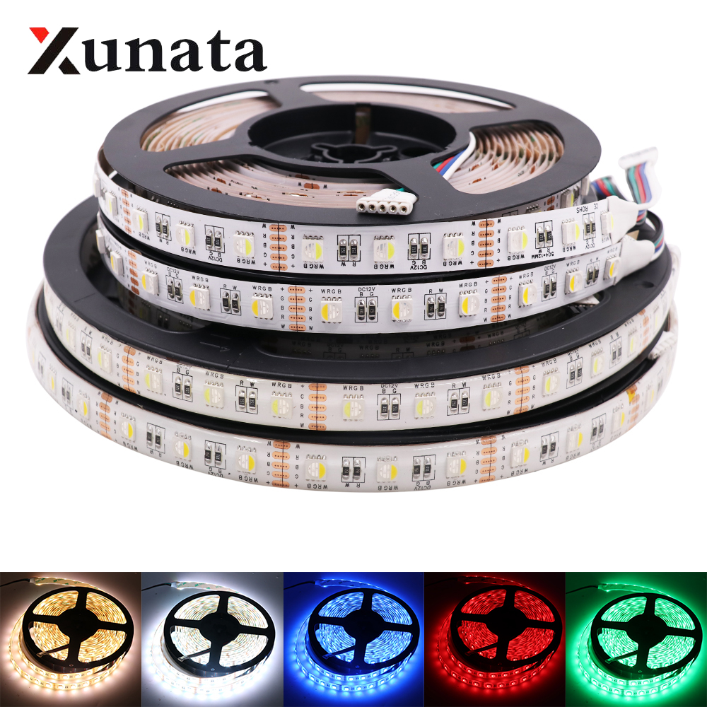 5m/Roll 24V RGBW RGBWW LED Strip Lamp 4 Colors In 1 Led Waterproof 5050SMD 60Leds/m Flexible Tape LED Strip Light