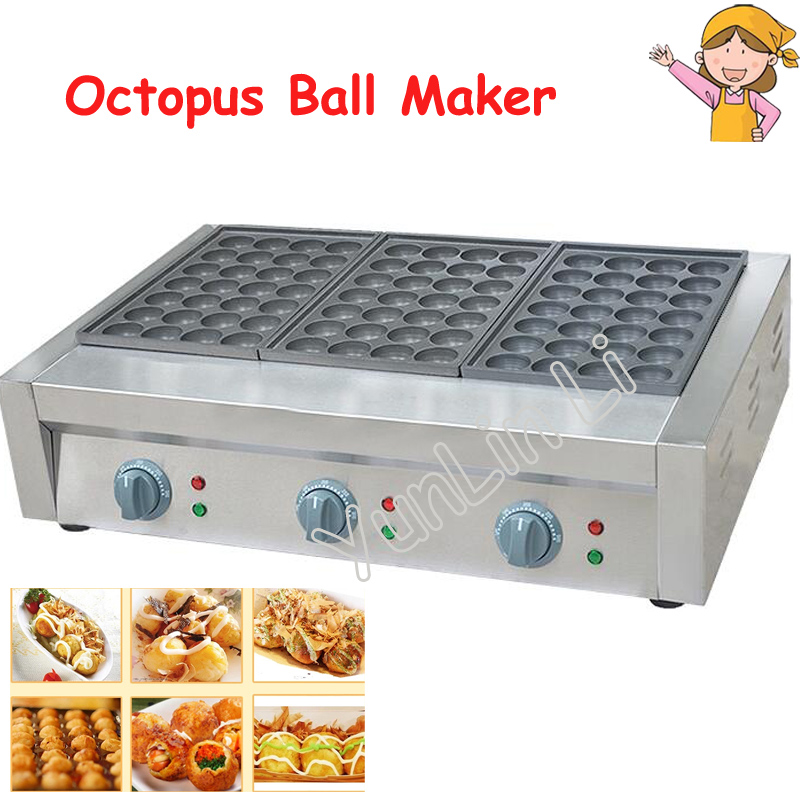 Grilled Fish Ball Machine Commercial Octopus Ball Machine Fish Egg Furnace Electric Three Board Fish Furnace FY-3 220v electric fish ball maker commercial octopus ball machine veneer fish ball furnace octopus burning machine ed 81