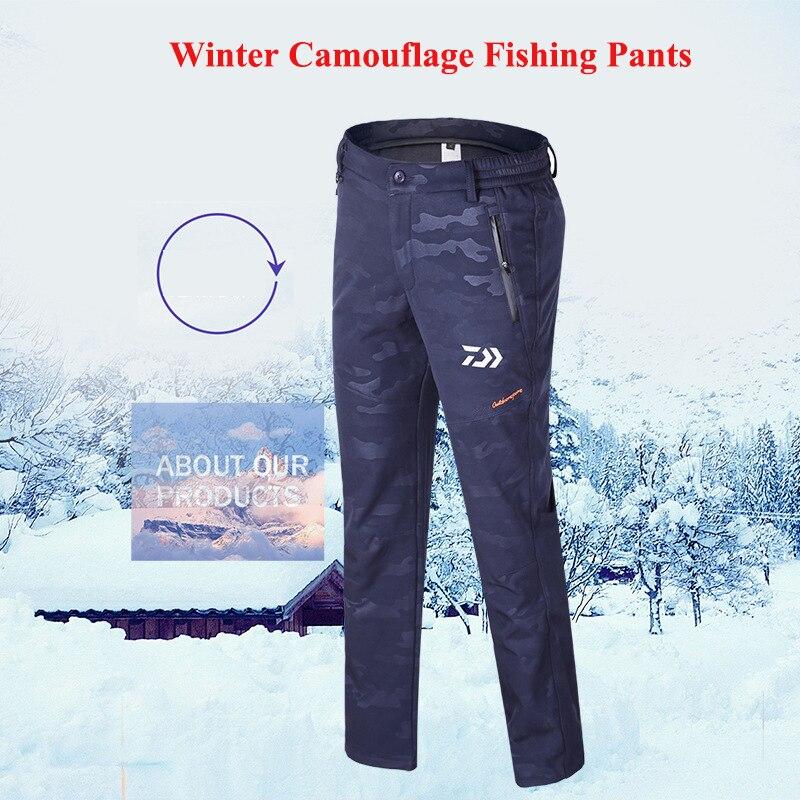 1 pc DAWA Grande Taille Hommes Sports de Plein Air Camouflage Hiver Coupe-Vent Pantalon de Pêche Vêtements Chaud et Imperméable Pantalon