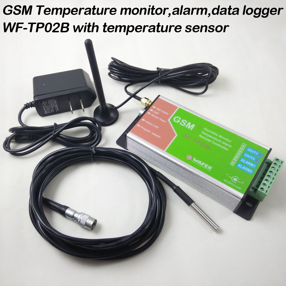 GSM Temperature Monitoring SMS alarm report Email data Log report Two relay output and two input
