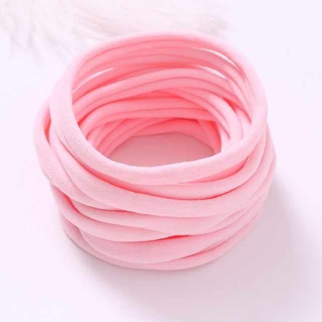 Image 5 - 100 pcs/lot, Super Soft THIN Nylon Headbands, 6mm width wholesale elastic nylon headband-in Hair Accessories from Mother & Kids
