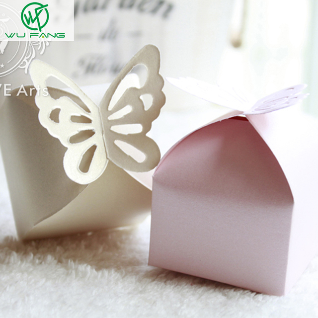 50Pcs Butterfly Candy Box Wedding Decoration Gift