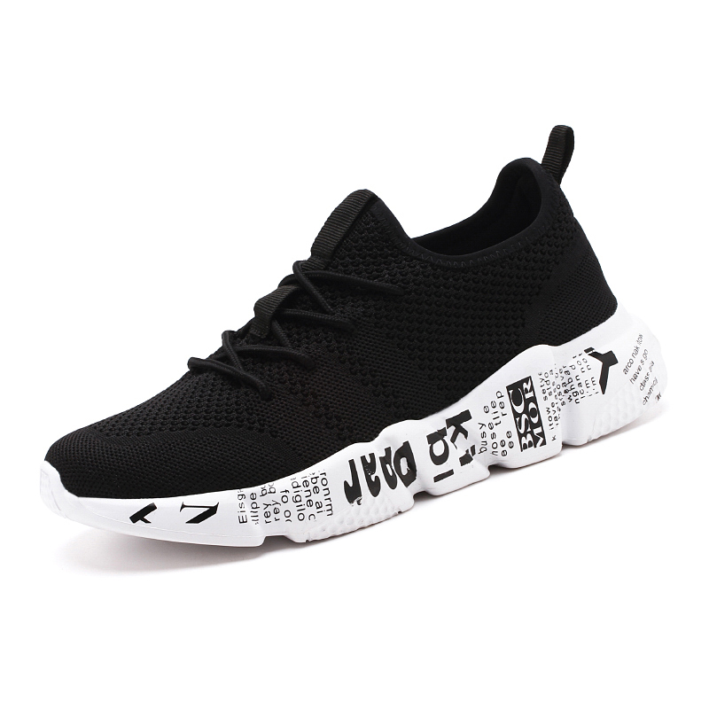 QGK 2019 Men Shoes Casual High Quality Fashion Style Men Shoes Comfortable Mesh Outdoor Walking Jogging Sneakers Tenis Masculino