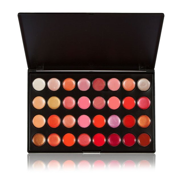 1pcs 32 Charming Colors Lip Gloss Palette Set Gorgeous Portable Makeup Lipstick Cream Kit Party Salon Beauty Batom 1435499