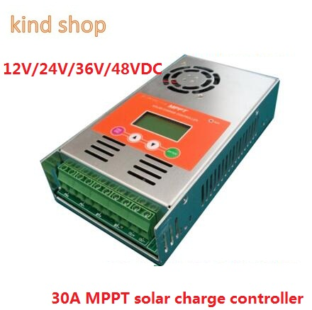 MPPT 30A Solar Charge Controller 12V 24V 36V 48V Solar Battery Charge Controller LCD Display 40A 50A 60A MPPT Solar Regulator lcd 30a 12v 24v mppt solar panel regulator charge controller