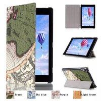 Ultra Slim World Map 3 Folder Folio Stand Leather Magnetic Smart Sleep Wake Cover Case For