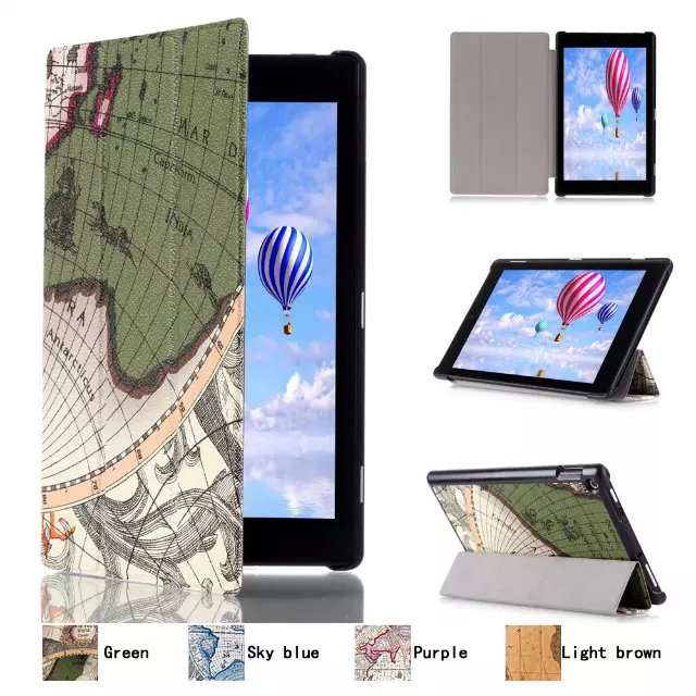все цены на Ultra Slim World Map 3-Folder Folio Stand Leather Magnetic Smart Sleep & Wake Cover Case For Amazon Kindle Fire HD10 2015 Tablet онлайн