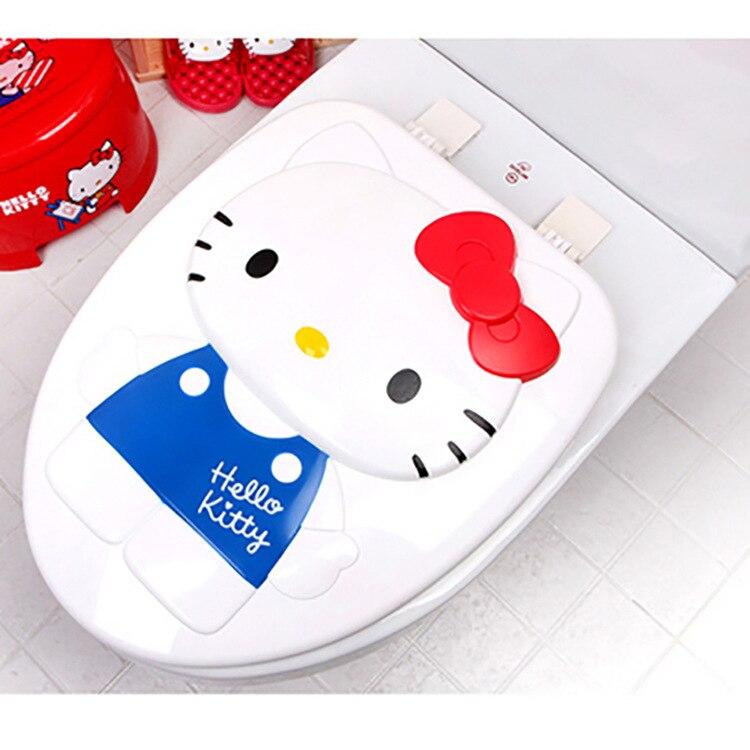 Южная Корея рисунок «Hello Kitty» O-форма симпатичный Чехлы для сиденья унитаза крышку унитаза