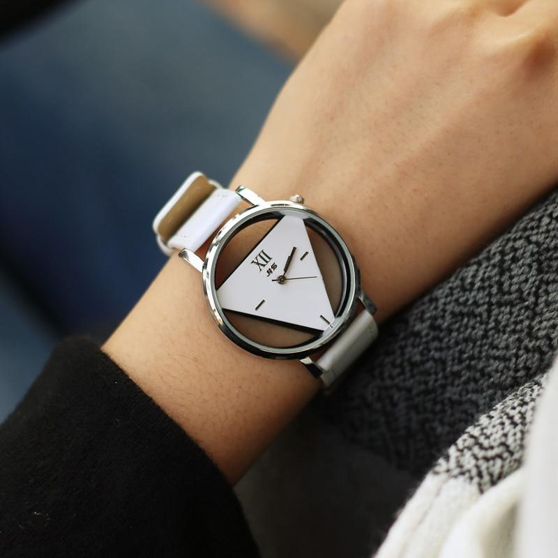 Moda hollow üçgen kadınlar kuvars saatler basit yenilik ve - Kadın Saatler - Fotoğraf 3
