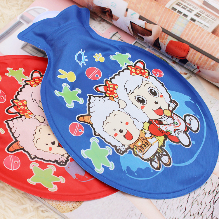 1pc 22cm*14.5cm Cartoon Printed Water-drop Shape PVC Explosion-proof  PVC Hot Water Bag Hand Warmer Storage Water Bag 1789HW lovely cartoon charging electric hot water bag environmental protection material safety explosion proof anti warm water bag