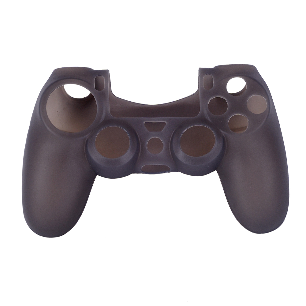 OURSTEAM 10PCS Factory Price Soft Silicone Protective Case For Sony PS4 Controller Game Rubber Cover Black