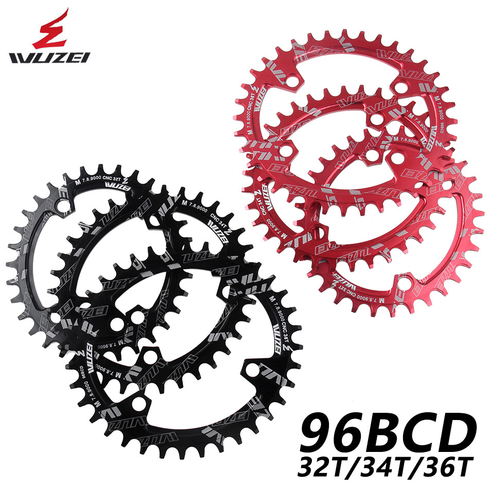 WUZEI BCD 96mm Round/Oval Bicycle <font><b>Chainring</b></font> MTB Mountain Chain Wheel 32T 34T 36T For Shimano <font><b>M7000</b></font> M8000 M9000 Crank image