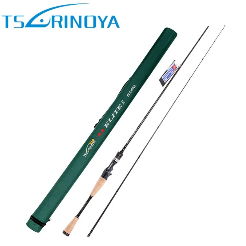 Tsurinoya Baitcasting Fishing Rod L 2 Sections 1.95m Carbon Lure Rods FUJI Accessories Canne A Peche Fishing Pole Free Shipping carbon fibre lure pole fishing rod ceway esse spinning rods eging rockfish fish poles 3 sections 2 19m free shipping discount
