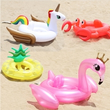 Kids Inflatable Swimming Ring flamingo Unicorn Pineapple pvc baby Float for Summer Water Fun Swim Circle Pool Toys