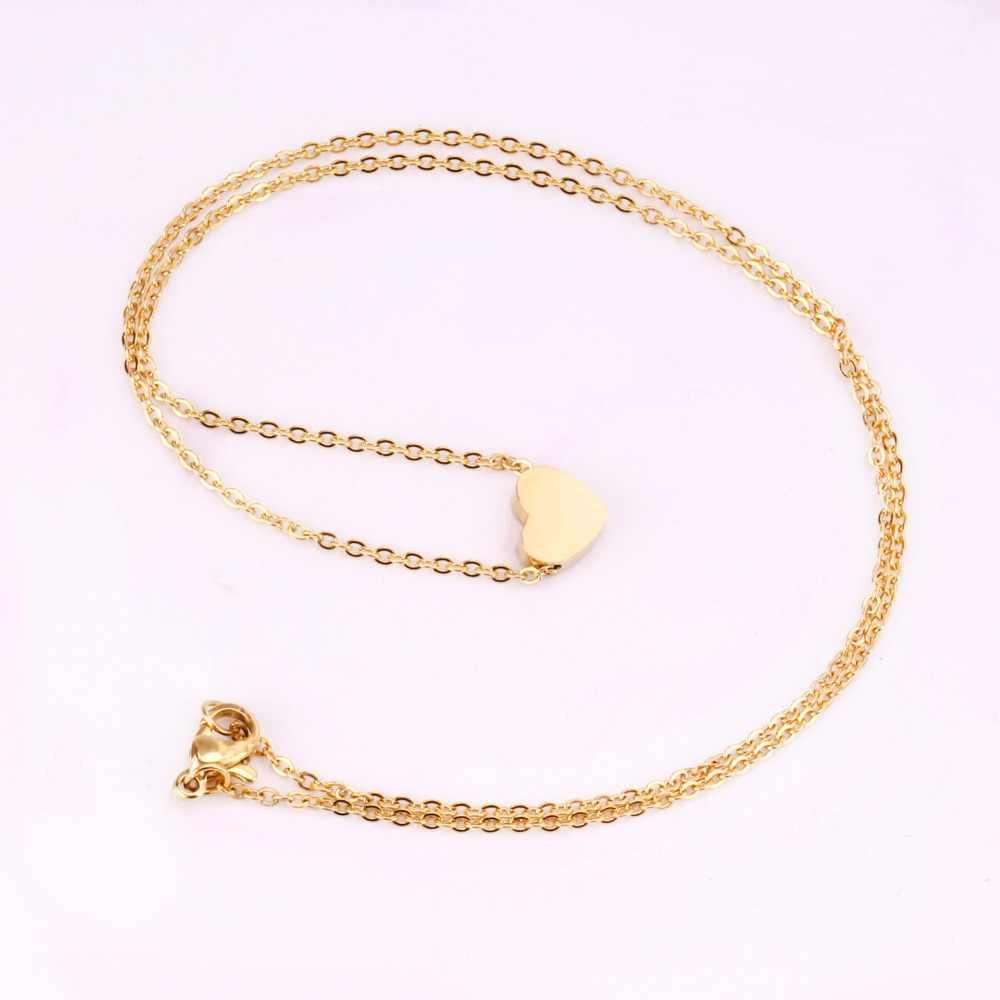 45cm Đầu 316L Inox Trái Tim Mặt Trăng Sao CrossPendant Dài Liên Kết Chuỗi Dây Chuyền Bộ Vàng Cho Nữ Vòng Cổ Choker bộ trang sức