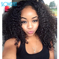 Malaysian Kinky Curly Lace Front Wigs For Black Women Soft Hair Full Lace Wigs With Baby Hair 150% Density Bleached Knots