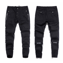 2017 New Arrival Top Quality Fashion Mens Jeans Jogger Pants Black Color Denim Ankle Banded Jeans Men Brand Designer Jeans Men mens jeans 2017 new fashion slim fold jeans men brand designer denim pants luxury blue locomotive jeans male