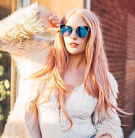 Blandat persika Rosa Naturvåg Syntetisk Spets Fram Paryk Glueless - Syntetiskt hår - Foto 1
