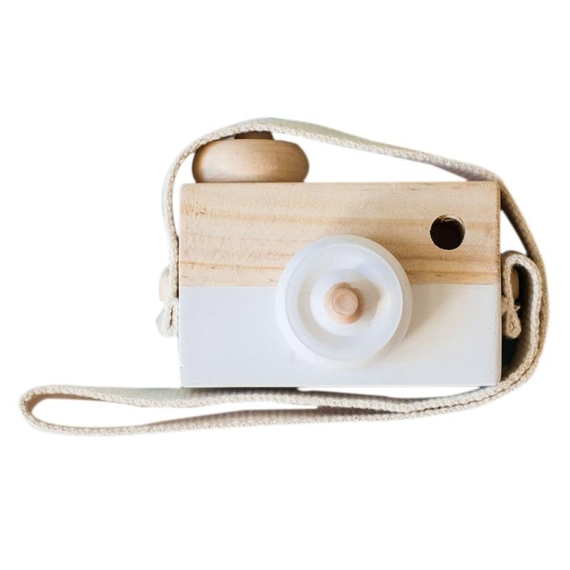 Скандинавский Европейский стиль камера Игрушки для маленьких детей декор комнаты предметы мебели ребенок Рождество День рождения деревянные подарки - Цвет: whiwhit